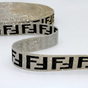Тесьма Буквы Чёрный Серебро