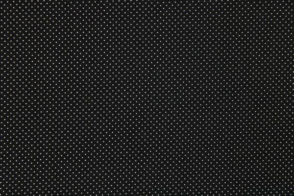 Tkanina Drukowana Bluzkowa Białe Kropeczki Czarne Tło