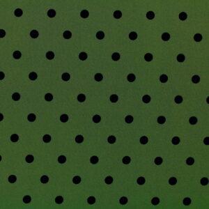 Printed Fabric Black Polka Dots Khaki Background
