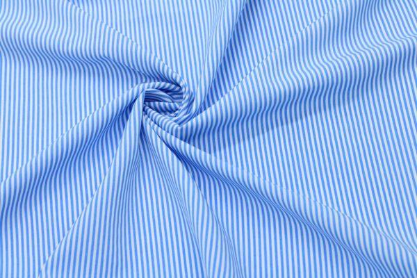 Tkanina Drukowana Bluzkowa Niebieskie Paski