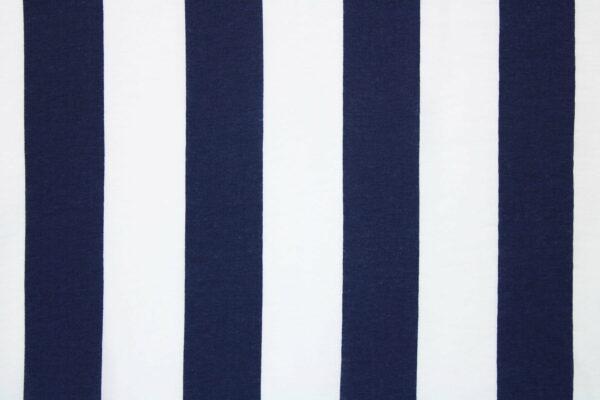 Ткань Принт Полоски Синий  Белый