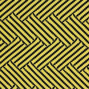 Dzianina Żakardowa Sukienkowa Na Spódnicę Geometryczny Wzór Musztardowy