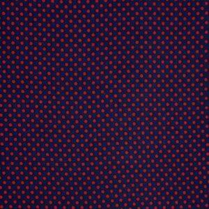 Ткань Шифон Принт Drobne Czerwone Горошки Синий Фон