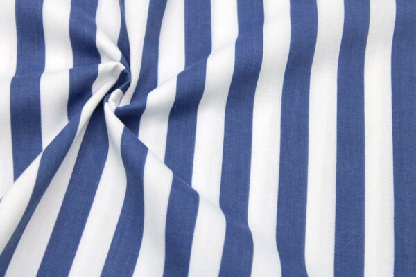 Tkanina Drukowana Bluzkowa Sukienkowa Paski Jeans