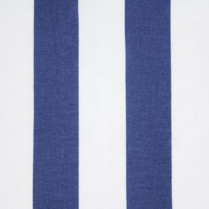 Ткань Принт Полоски Джинсовый Белый