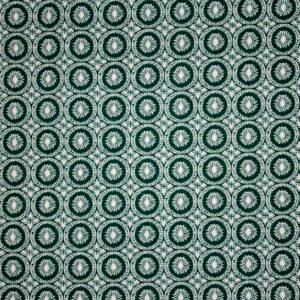 Dzianina Drukowana Sukienkowa Na Spódnicę Kółka Zielony