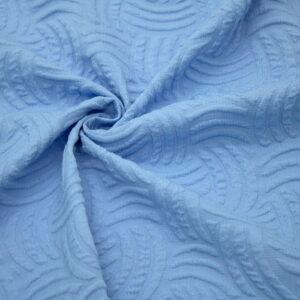 Ткань Жаккард Геометрия Узор Голубой