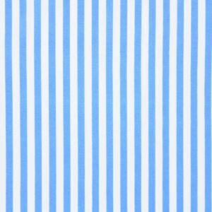 Tkanina Drukowana Bluzkowa Niebieskie Paski Białe Tło