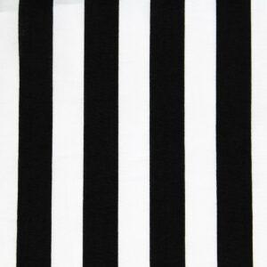 Ткань Принт Полоски Черный Белый