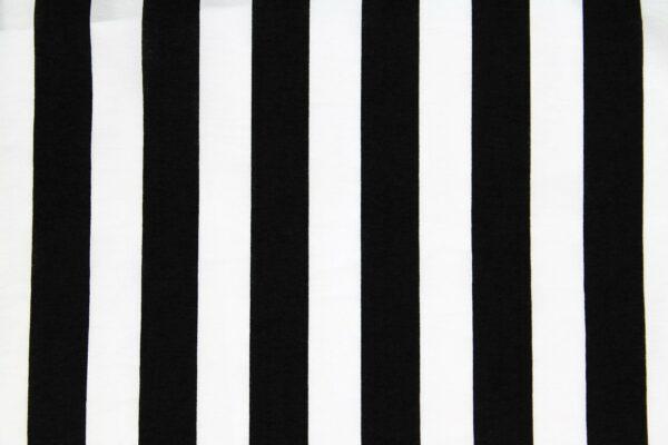 Tkanina Drukowana Sukienkowa Paski Czarny Biały