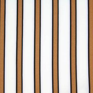 Tkanina Drukowana Bluzkowa Kamel Pasy Białe Tło