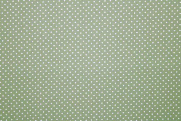 Ткань Принт Белый Горошки Фон Жасмин