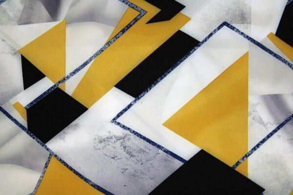 Tkanina Drukowana Bluzkowa Geometryczny Wzór