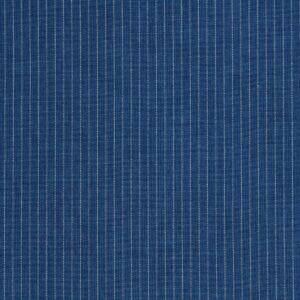 Tkanina Sukienkowa Koszulowa Bluzkowa Paseczki Białe Tło Ciemny Jeans