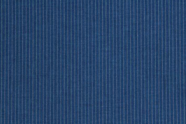Ткань Полоски Белые Фон Тёмно Джинсовый