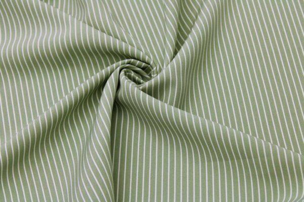 Ткань Принт Полоски Черный Зеленый