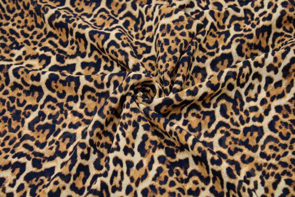 Ткань Шифон Принт Леопардовый