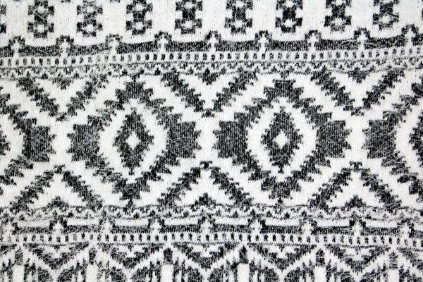 Dzianina Swetry Czarny Biały Romby