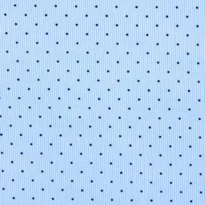 Ткань Принт Горошки Голубые Полоски