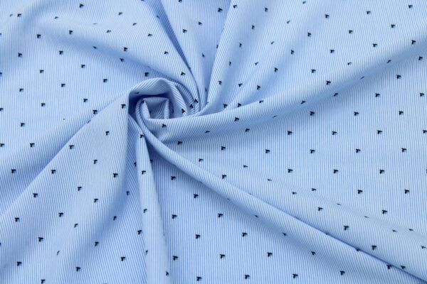 Tkanina Drukowana Bluzkowa Drobne Kwiaty Niebieskie Paski