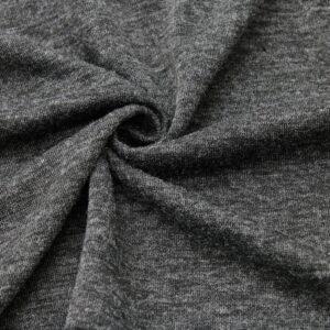 Dzianina na Swetry Czarny Melanż