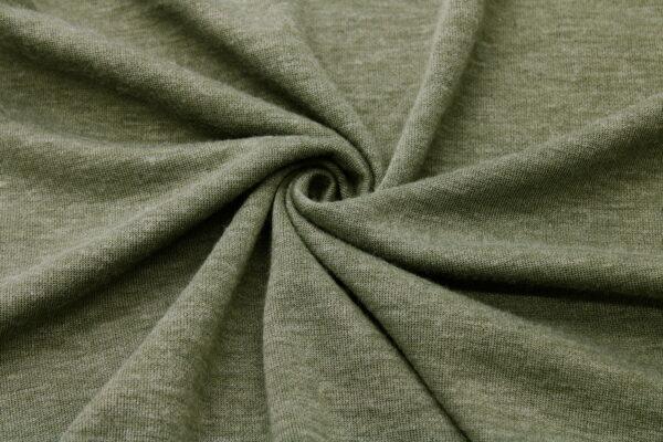 Dzianina na Swetry Khaki Ciemny