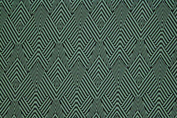 Dzianina Żakardowa Sukienkowa Na Spódnicę Geometryczny Wzór Zielony
