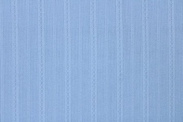Ткань Жаккард Полоска Голубой