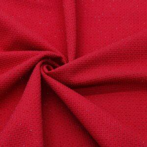 Dzianina Wafelek Sukienkowa Na Spódnicę Czerwony Metalik