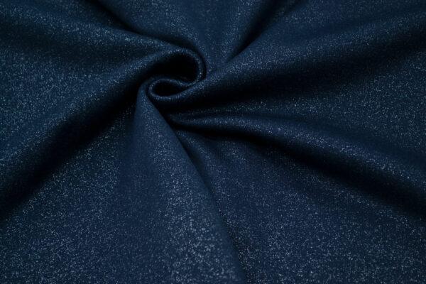 Dzianina Sukienkowa na Spódnice Spodnie Żakiet Granatowy