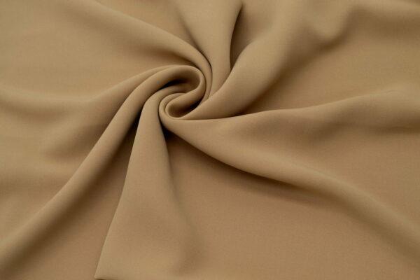 Tkanina Sukienkowa Bluzkowa Koszulowa Ciemny Beż