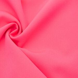 Tkanina Sukienkowa Garniturowa na Spódnice Neonowy Róż
