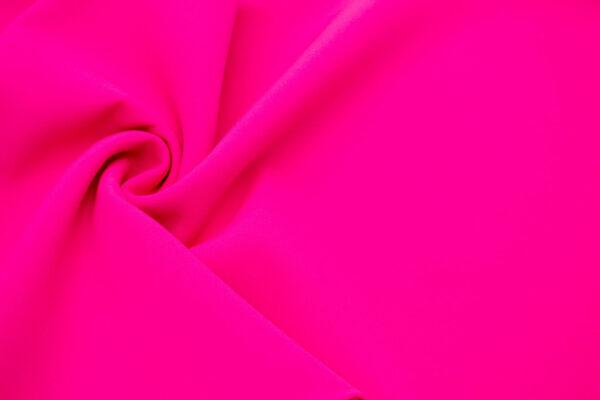 Tkanina Sukienkowa Garniturowa na Spódnice Neonowy Różowy