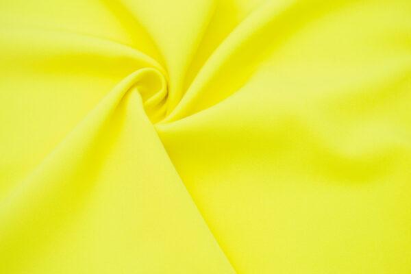 Tkanina Sukienkowa Garniturowa na Spódnice Żółty Cytrynowy