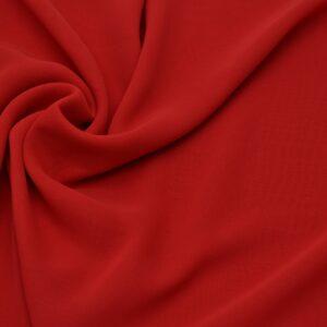 Tkanina Bluzkowa Sukienkowa Czerwony