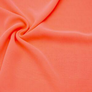 Tkanina Bluzkowa Sukienkowa Neonowa Brzoskwinia
