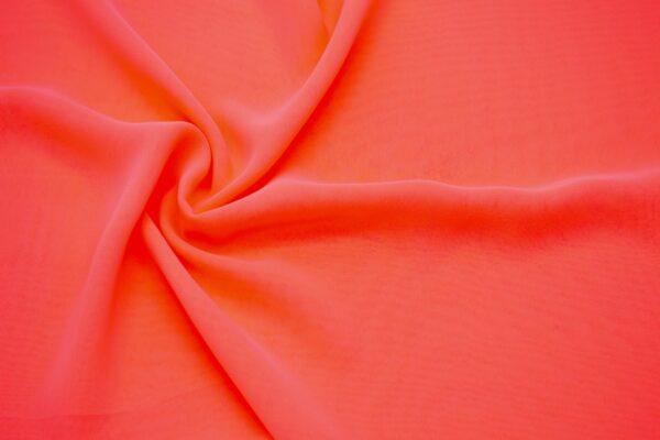 Tkanina Bluzkowa Sukienkowa Neonowy Pomarańcz