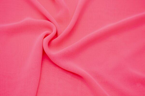 Tkanina Bluzkowa Sukienkowa Neonowy Róż