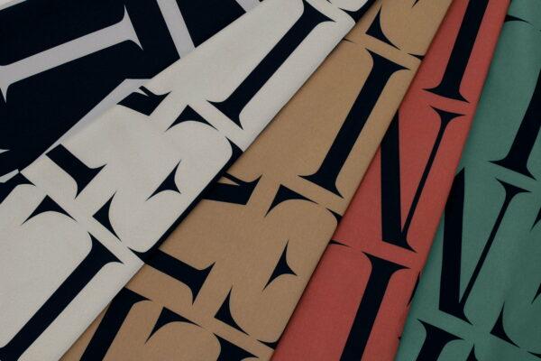 Ткань Принт Буквы