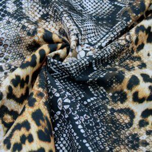 Ткань Принт Леопардовый Змеиная Кожа