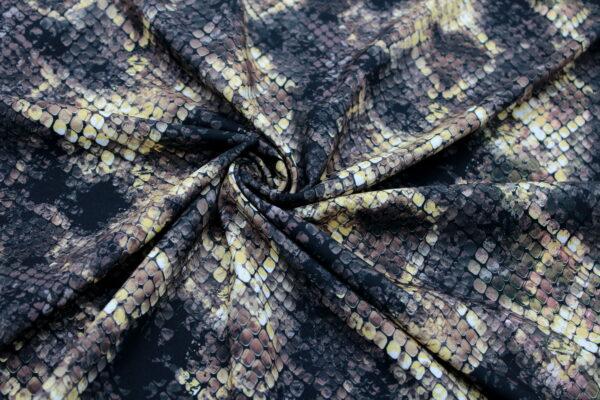 Tkanina Drukowana Sukienkowa Bluzkowa Wąż