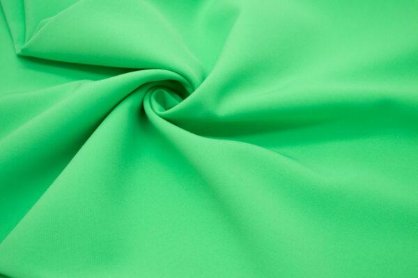 Tkanina Sukienkowa Garniturowa na Spódnice Neonowy Zielony
