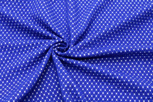 Dzianina Żakardowa Sukienkowa Na Spódnicę Geometryczny Wzór Romby Chaber