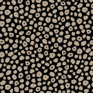 Ткань Принт Бежевый Леопардовый Чёрный Фон
