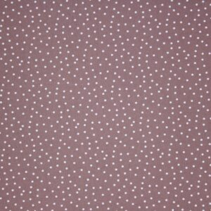 Printed Fabric White Polka Dots Cappuccino Background