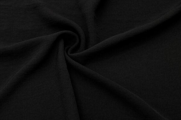 Tkanina Sukienkowa Bluzkowa Czarny