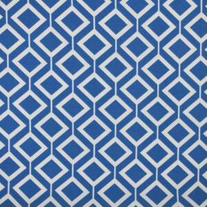 Printed Fabric Geometric Pattern Ecru