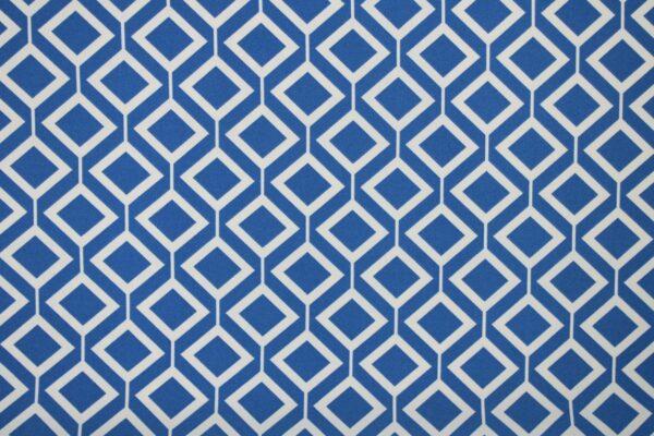 Tkanina Drukowana Sukienkowa Garniturowa Geometryczny Wzór Jeansowy Ecru