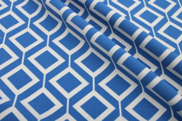 Printed Fabric Geometric Pattern Ecru