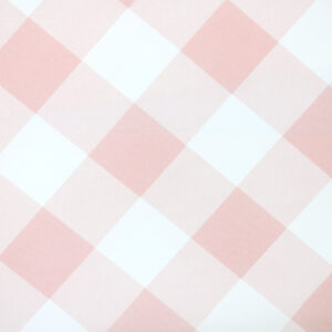 Printed Fabric Powder Ecru Checkered